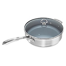 image of Chantal® Nonstick Ceramic Coated Induction 21 Steel™ 5 qt. Covered Sauté Pan