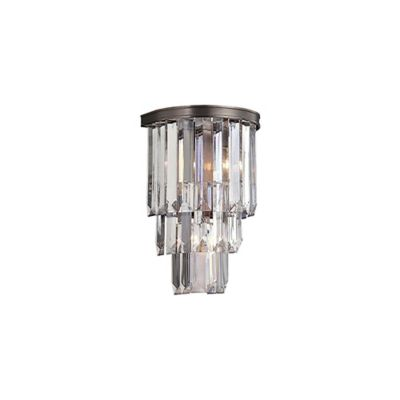 Single Light Wall Sconce With Crystals : Savoy House Tierney 2-Light Wall Sconce in Burnished Bronze with Acrylic Shade - Bed Bath & Beyond