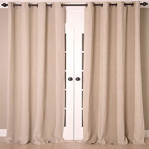 buy linen stripe vertical stripe 84 inch grommet top. Black Bedroom Furniture Sets. Home Design Ideas