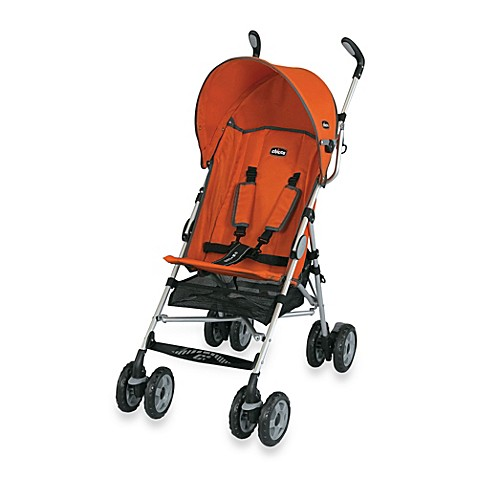 Chicco 174 Ct 0 6 Comfort Travel Stroller In Tangerine