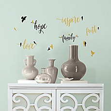 image of Inspirational Words with Birds Peel and Stick Wall Decals