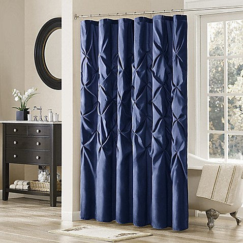 Buy Madison Park Laurel 72 Inch X 72 Inch Shower Curtain In Navy From Bed Bath Beyond