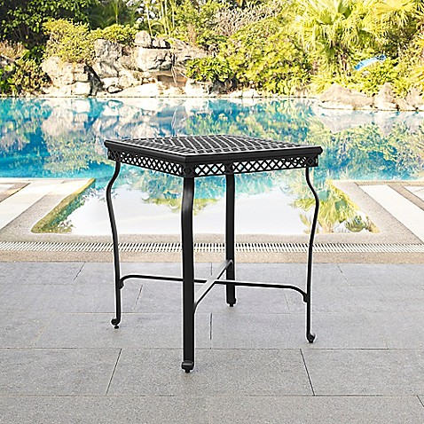 Crosley Portofino Patio Bar Height Bistro Table In Black Bed Bath Beyond