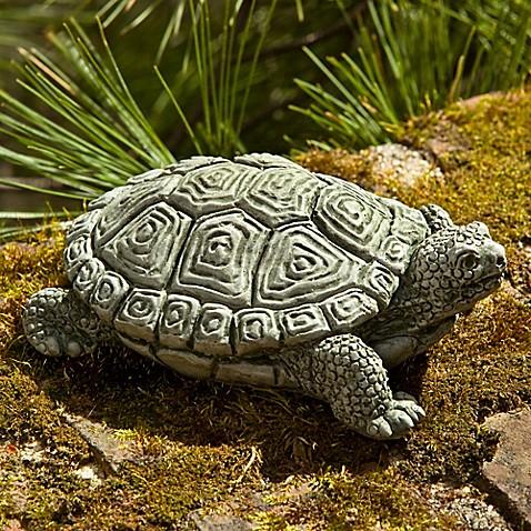 campania my pet turtle garden statue in alpine stone - My Pet Garden