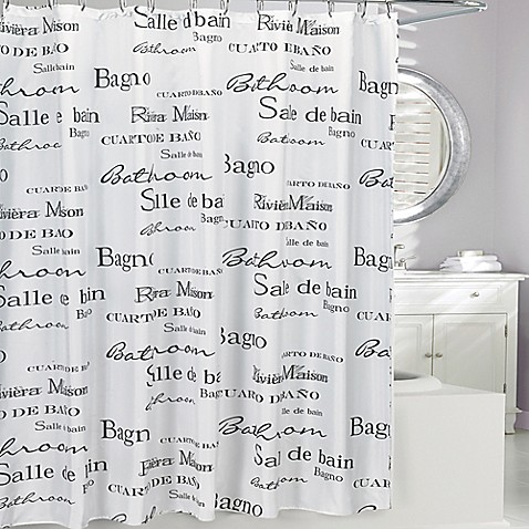 moda at home salle de bain fabric shower curtain bed