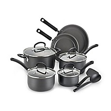 image of T-Fal® Precision Ceramic Hard Anodized 12-Piece Cookware Set