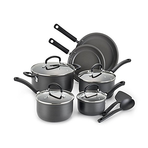 t fal precision ceramic hard anodized cookware collection bed bath beyond. Black Bedroom Furniture Sets. Home Design Ideas