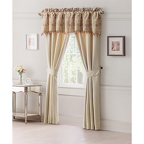 Waterford linens cathryn window treatments in linen bed for Linen shades window treatments