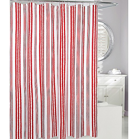 Buy Moda At Home Weekend Stripe Fabric Shower Curtain In