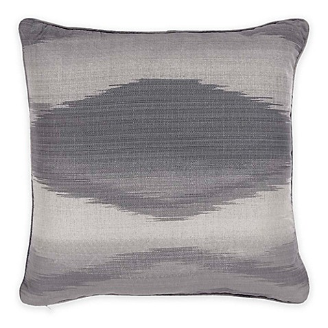 Black Throw Pillow For Bed : Buy Bed Inc. Kingston Square Throw Pillow in Grey/Black from Bed Bath & Beyond