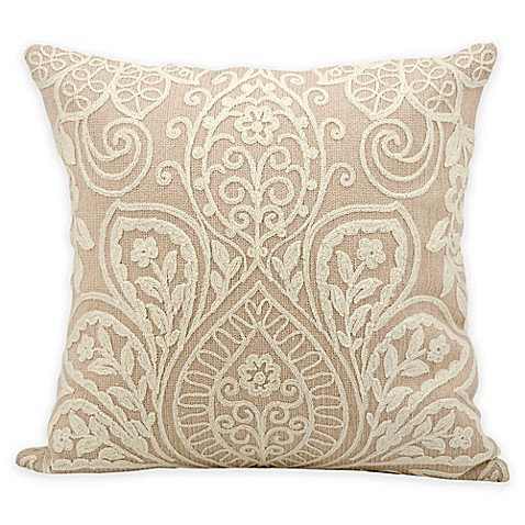 Throw Pillows With Lace : Kathy Ireland Medallion Lace Square Throw Pillow - Bed Bath & Beyond