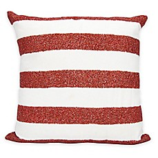 image of mina victory luminescence flag stripes square throw pillow - Decorative Bed Pillows