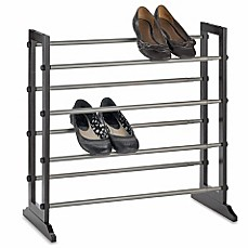 image of 4tier expandable shoe rack in mahogany