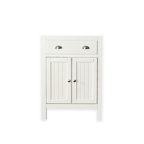 hamilton 24 inch vanity cabinet in french white from bed bath beyond
