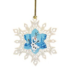 image of Lenox® Disney Frozen Olaf Snowflake Christmas Ornament