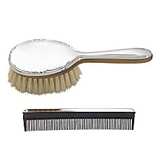 image of Lunt Silversmiths Carolina Girl's Brush and Comb Set