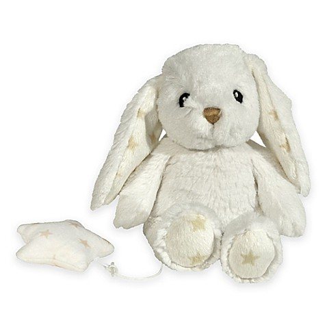 Cloud B 174 Hugginz Musical Bunny Plush In White Bed Bath
