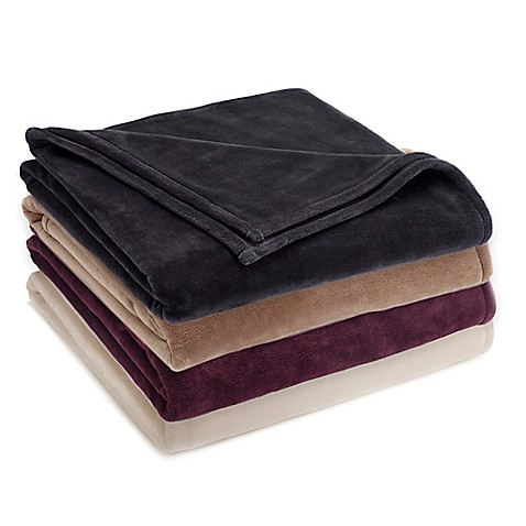Buy vellux sheared mink blanket in ivory from bed bath for Vellux blanket