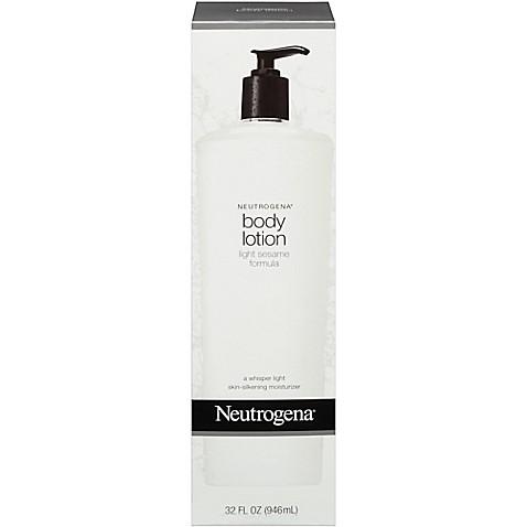 neutrogena 32 oz light sesame formula body lotion bed bath. Black Bedroom Furniture Sets. Home Design Ideas