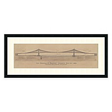 image of Craig S. Holmes Brooklyn Bridge Framed Architectural Art Print