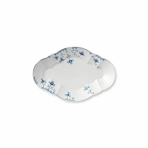 royal copenhagen elements 15 inch oval platter in blue. Black Bedroom Furniture Sets. Home Design Ideas