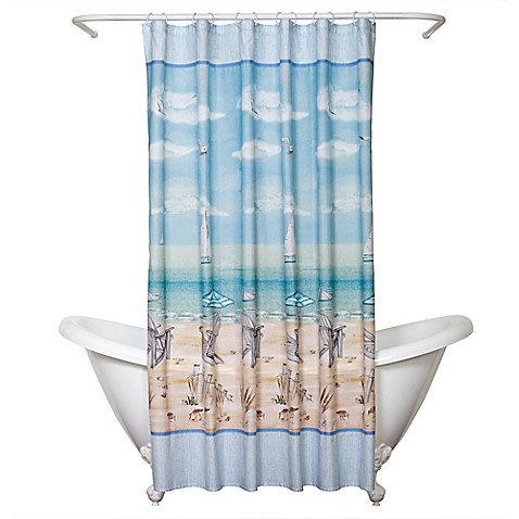 India InkTM Seaside Serenity Shower Curtain