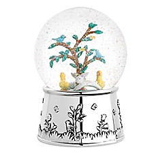 image of Reed & Barton Quilted Rabbit Musical Water Globe
