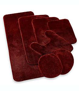 Cubierta universal de nylon Wamsutta® Duet para tapa de inodoro color vino