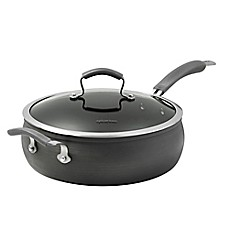 image of Epicurious Hard Anodized Nonstick 6 qt. Covered Jumbo Cooker with Helper Handle