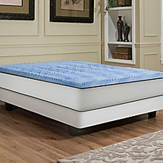 independent sleep 25inch memory foam with gel convoluted mattress topper