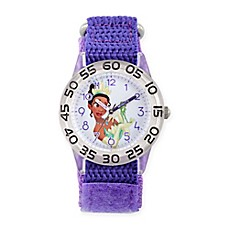 image of Disney® The Princess and The Frog Children's Tiana Time Teacher Watch in Plastic w/Nylon Strap