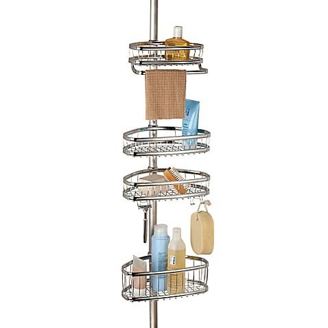 Interdesign york tension shower caddy bed bath beyond for Interdesign york
