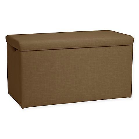 Skyline Furniture Skylar Storage Bench In Linen Taupe