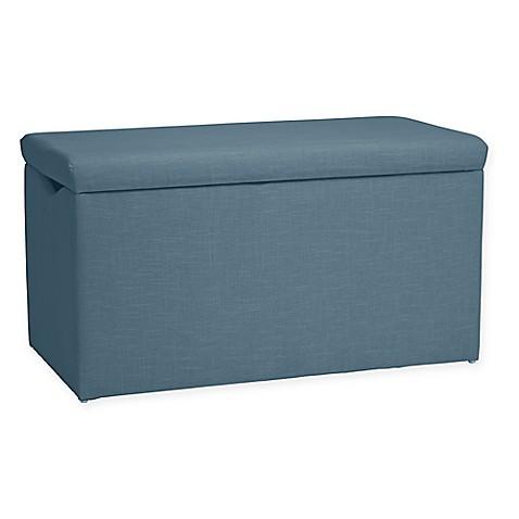 Buy Skyline Furniture Skylar Storage Bench In Linen Denim