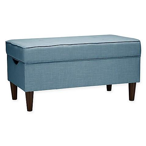 Buy Skyline Furniture Raven Tufted Storage Bench In Linen
