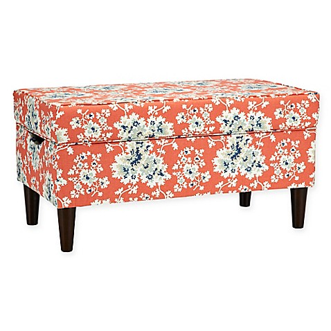 Buy Skyline Furniture Katy Storage Bench In Cecilia Coral From Bed Bath Beyond