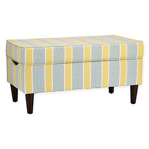 Skyline Furniture Katy Storage Bench in Eze Lemon Bed