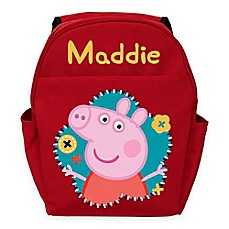 image of Peppa Pig Flower Fun Toddler Backpack in Red