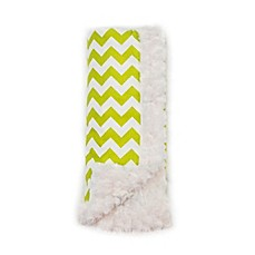 image of Bella Bundles™ Chevron Luxury Blanket in Lime