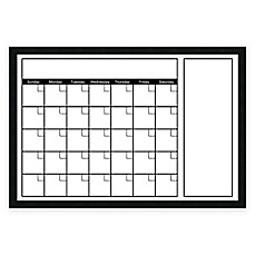 image of mezzanotte white big dryerase calendar with horizontal format
