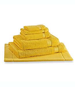 Toalla facial Wamsutta® Hygro® Duet, en amarillo
