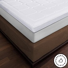 image of therapedic luxury quilted deluxe 3inch memory foam bed topper
