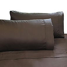 image of Ami McKay PURE Collection Pure Bamboo Silk Sheet Set in Chocolate