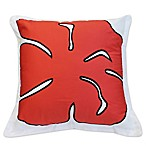 image of Ami McKay PURE Collection Twiggy Red Flower Square Throw Pillow