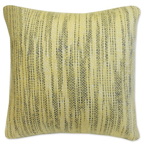 Ami McKay PURE Collection Twiggy Yellow Brushed Throw Pillow