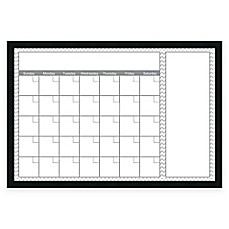 image of Mezzanotte Chevron Big Dry-Erase Blank Calendar in Grey