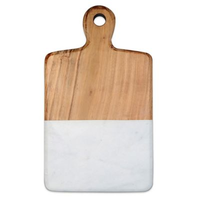 image of Artisanal Kitchen Supply™ 13-Inch Acacia and Marble Cheese Board