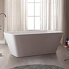 image of Avanity Piron ABT1530-GL 63-Inch x 31.5 Inch Acrylic Freestanding Bath Tub in White