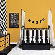 image of Go Mama Go Designs® Cotton Couture Wonder Bumpers and Teething Guards in Black/White