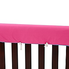 image of Go Mama Go Designs® 52-Inch x 12-Inch Cotton Couture Teething Guards in Pink/Turquoise